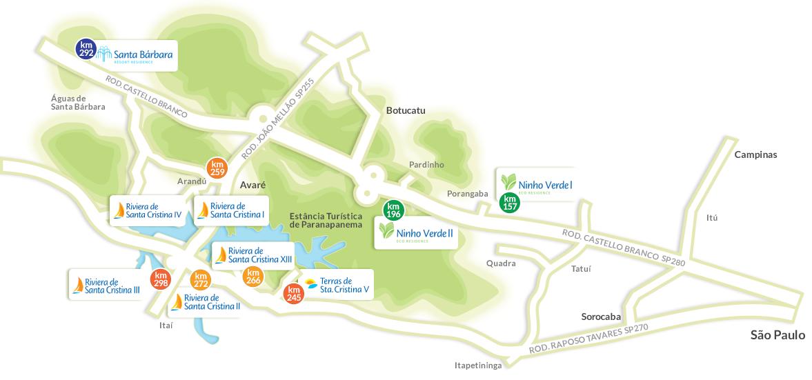 mapa empreendimento