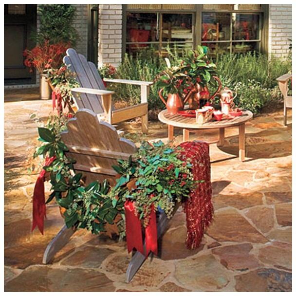 mobiliario jardim jumbo:mobiliário abaixo recebeu xales, fitas, folhas e bolinhas amarradas