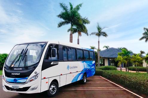 Novos ônibus no Santa Bárbara Resort Residence