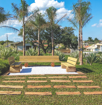 Ninho Verde I inaugura área de descanso para os adeptos da caminhada