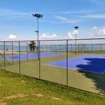 Quadras de tênis do Iate Clube IV
