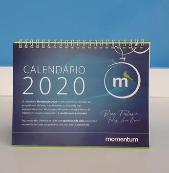 Calendário 2020 começa a ser entregue aos clientes