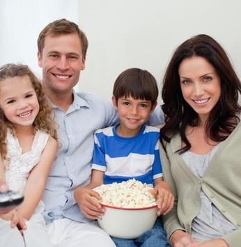Cine pipoca com a família!