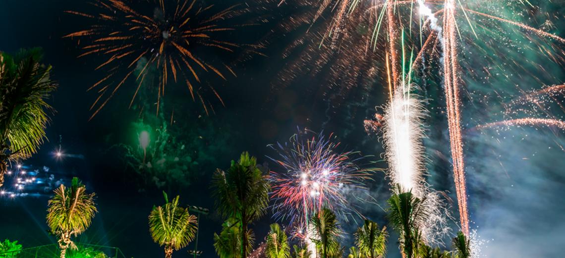 Réveillon é comemorado com grande festa no Santa Bárbara Resort Residence