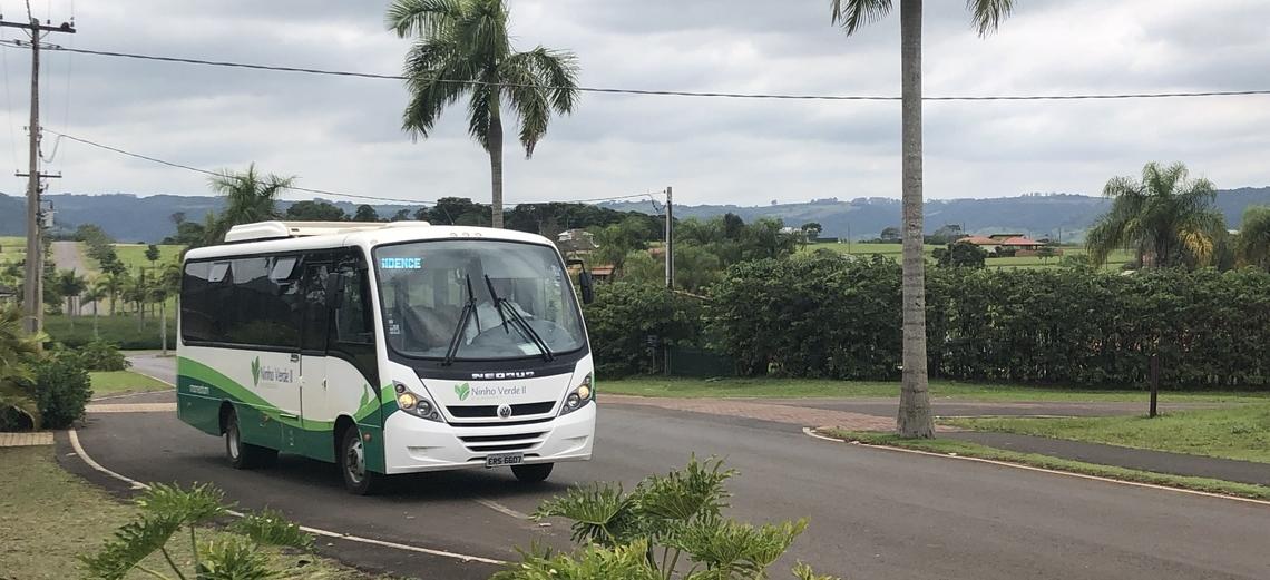 Você já utilizou o serviço de Transporte Coletivo interno do Ninho Verde II?