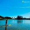 Para hoje, que tal stand up paddle no lago? 💦 O friozinho é um estímulo pra melhorar seu equilíbrio 😂