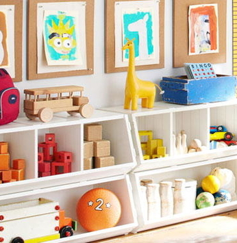 Organização de quartos de crianças