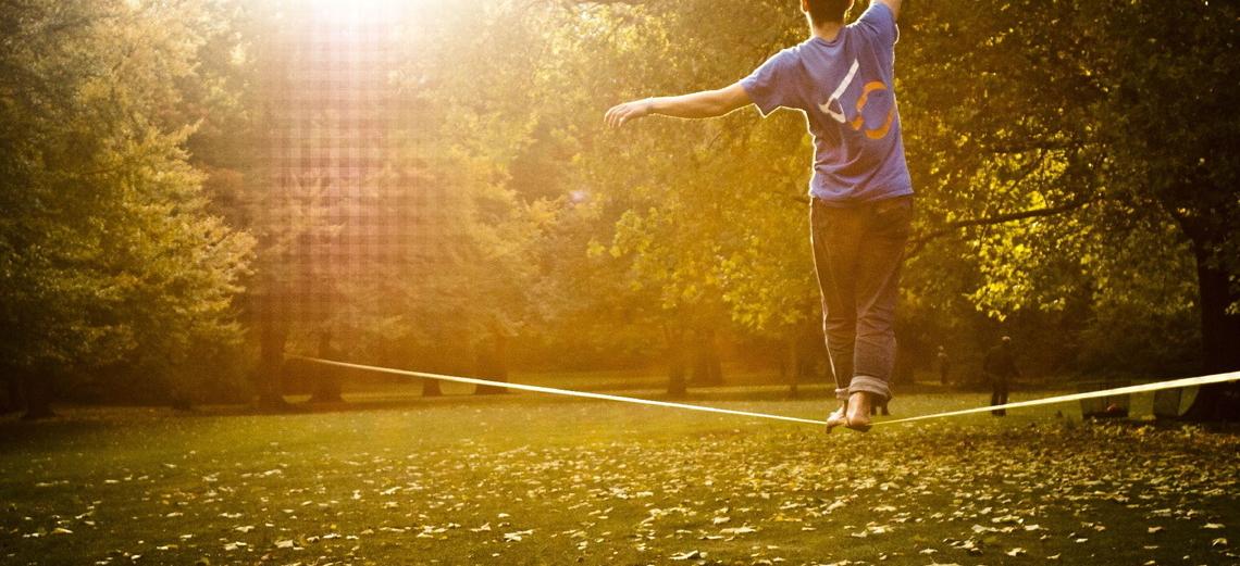 Slackline: o esporte de equilíbrio
