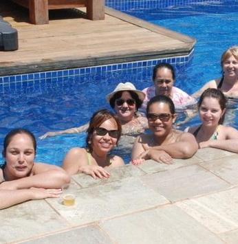 Professores participantes de ações do IRM comemoram seu dia no Clube Marina