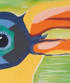 Ninho Verde II é inspiração para criação de arte