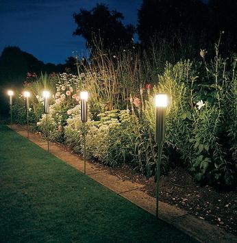 Luminárias que usam energia solar